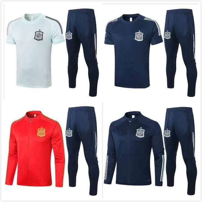2020 Espanha adulto Jacket Treino camiseta españa Morata 20/21 camisa pólo terno FABREGAS R FABREGAS RAMOS DIEGO ISCO Futebol Jacket Training