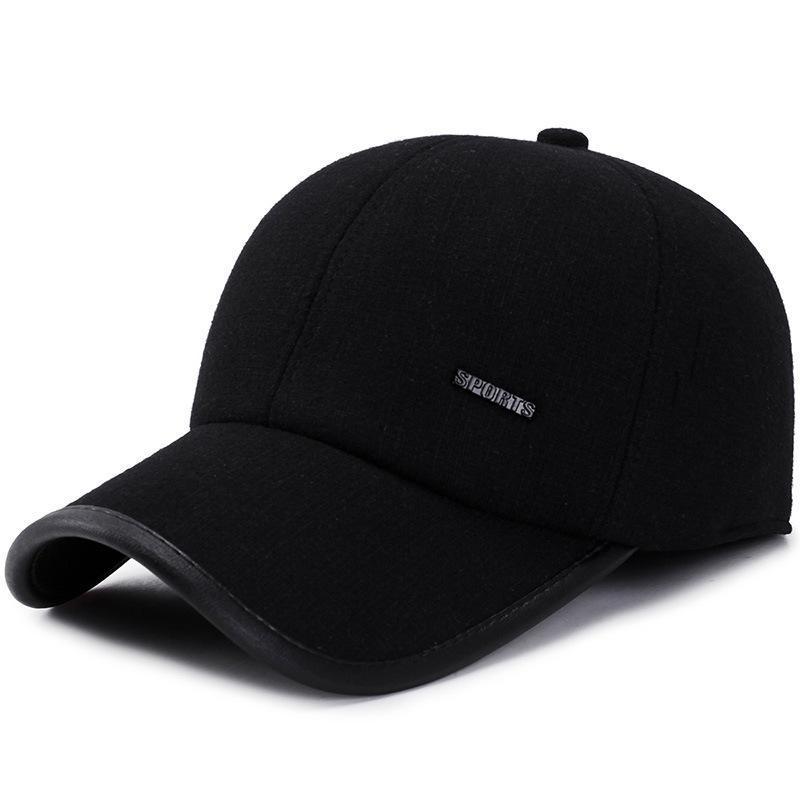 SQTEIO sonbahar ve kış sıcak kulak koruyucu yün beyzbol şapkası erkek ve kadın açık güneş şapkası