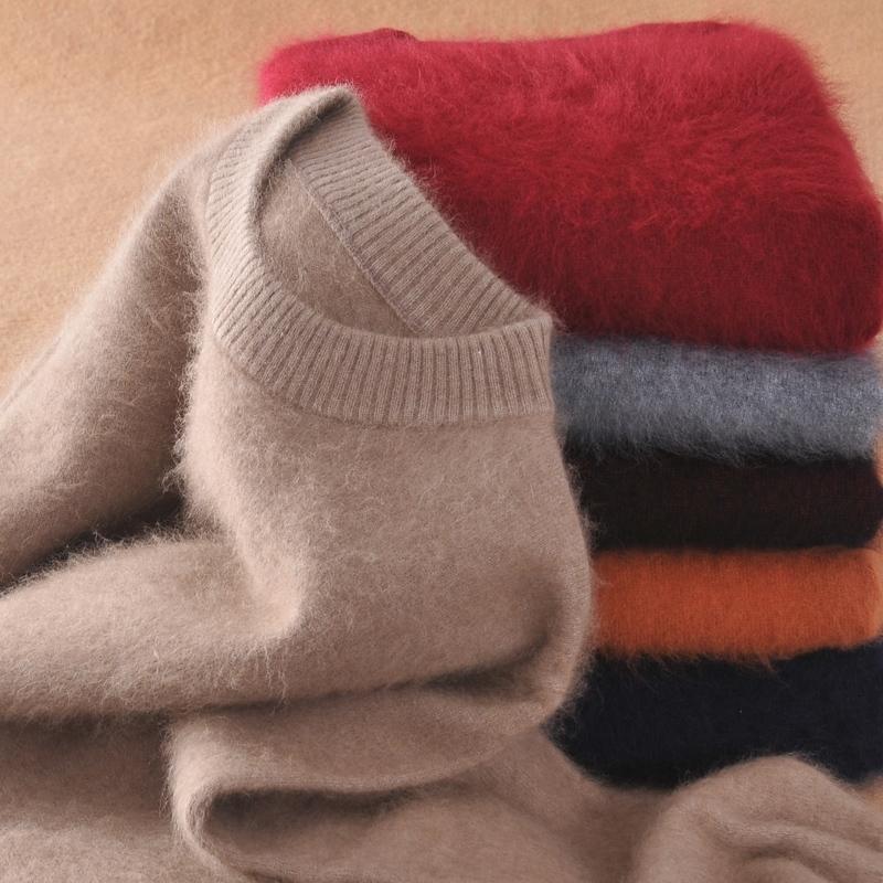 Мужчины Pullovers 100% MICK Cashmere вязание свитеры Новая мода зимние густые теплые пуловеры человека свитер бесплатная доставка 201022