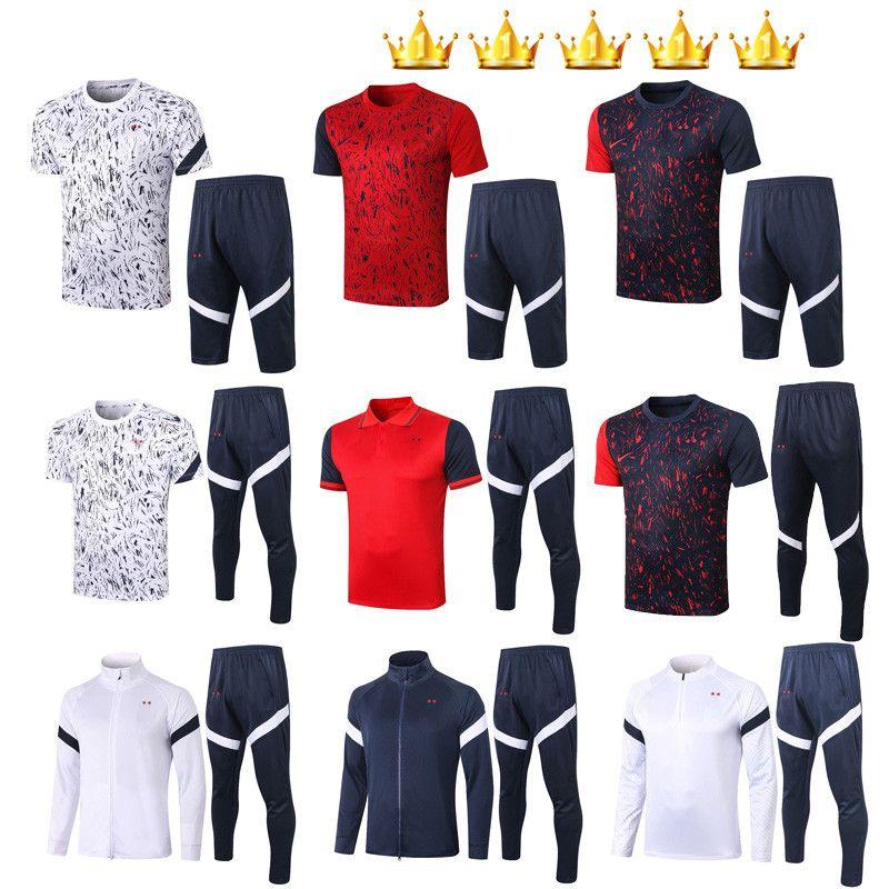 2020 2021 Traje de fútbol Traje de Fútbol Conjuntos de Survetement Conjuntos de Sudadera con capucha CAMISAS DE FUTEBOL 20 21 KIT Jersey Maillot de Foot Jacket Kits