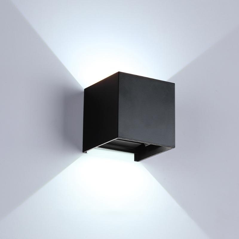 12 واط أدى الجدار مصباح IP65 ماء داخلي ضوء الصمام نوم فناء الشرفة الإضاءة تعديل شعاع زاوية التصميم