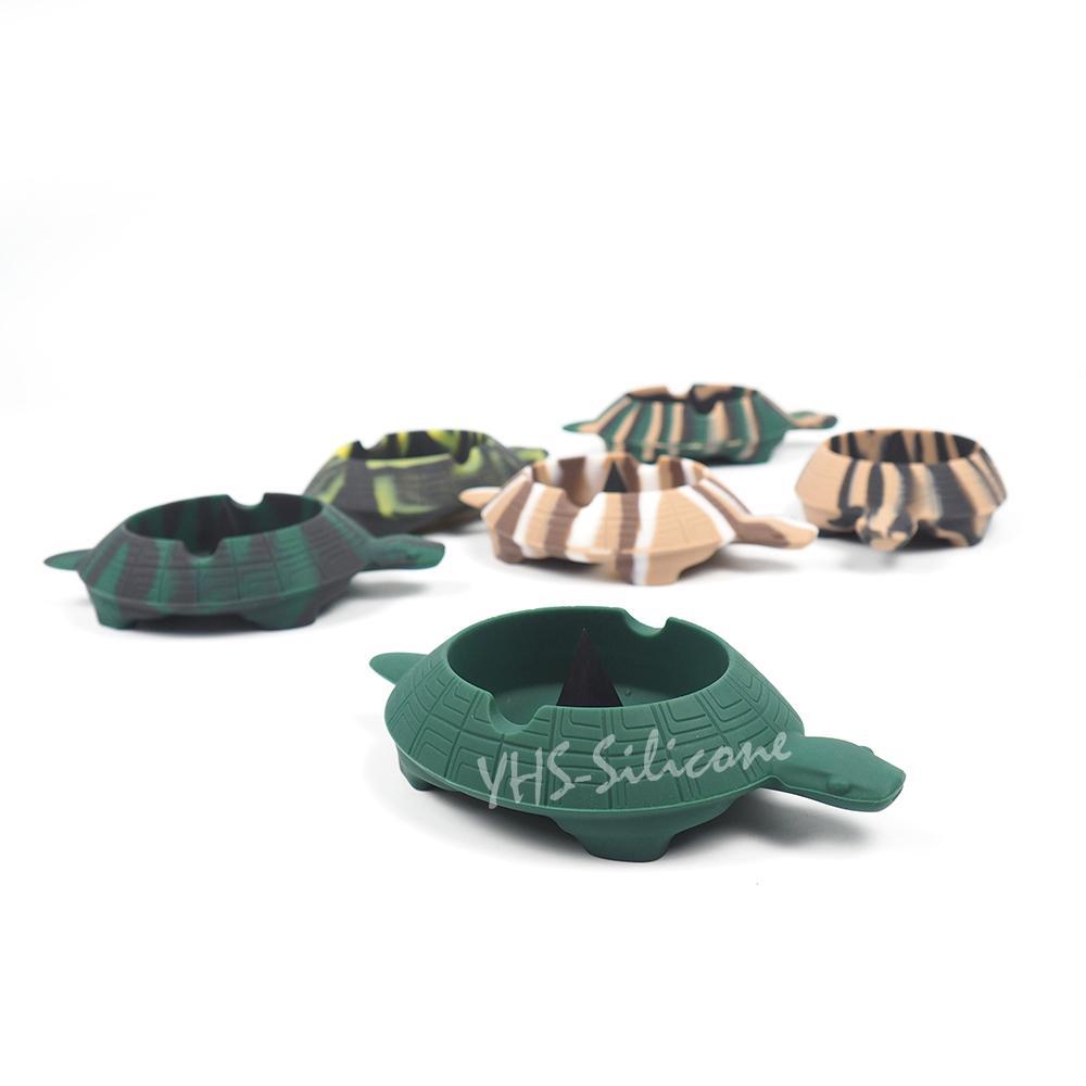 Tortoise posacenere silicone Posacenere, Piramide Tap vassoio con spazi per la raccolta bobine, accendini, penne, carte cuore resistente