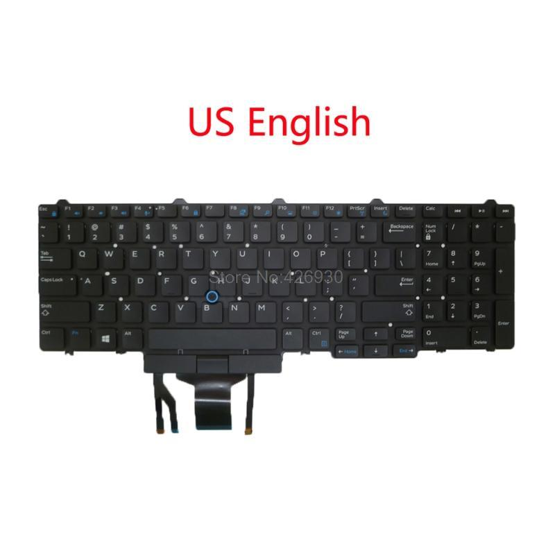 Laptop Backlit US AR ACNOR BR SD FR SP JP Keyboard For For Latitude E5550 5550 E5570 5580 7510 3510 M3510 3520 7520 7720