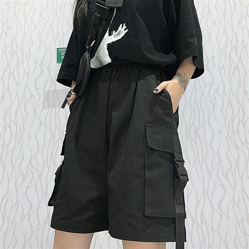 courts pantalons pour femme haut Streetwear Casual unisexe neutre ouvrier lâche Harem moitié droite mince jambe large froid Petit ami