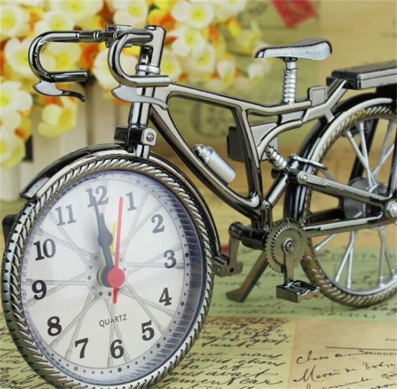 الرجعية دراجات على شكل منبه الطلاب الأسرة المعادن الموضة الجدول ساعات تأثيث المنزل الديكور الأصالة 6 5yl J2