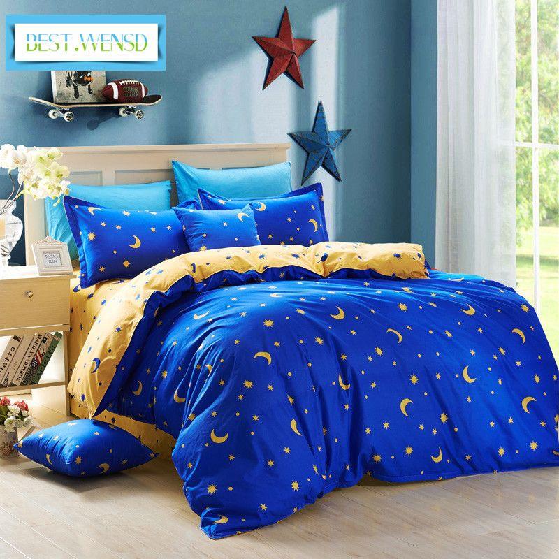 Best.WENSD Toptan Polyester Yıldız Çarşaf Ev Tekstili, 3/4 adet Yatak Yorgan Kapak Setleri Yatak Yorgan Prenses Yatak Seti T200819