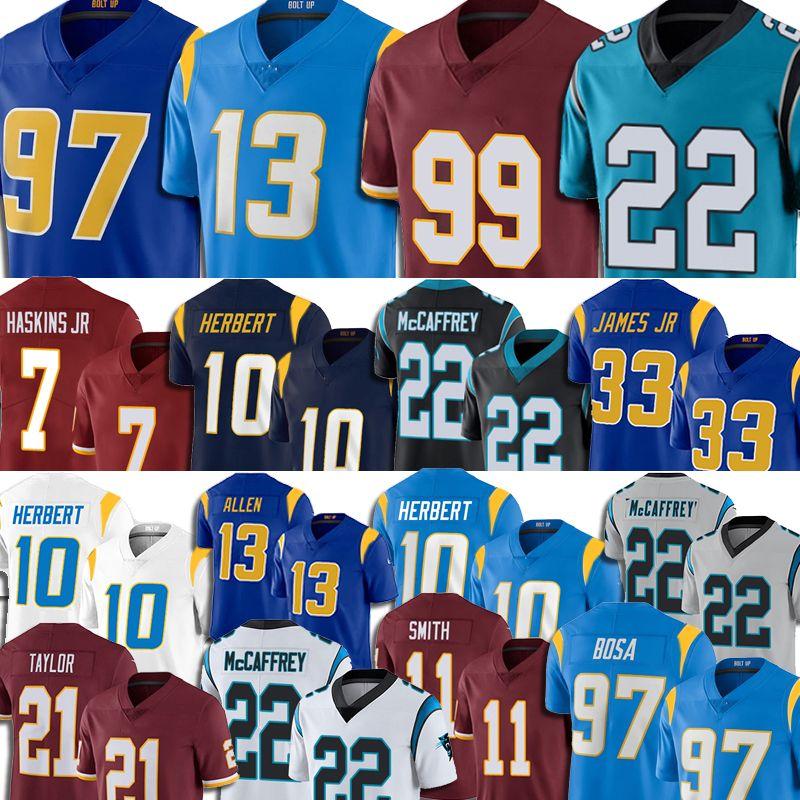 99 Junge Junger Jersey Los 10 Justin Herbert Angeles 97 Joey Bosa 5 Teddy Bridgewater Christian McCaffrey Jeremy Chinn Football Alex Smith