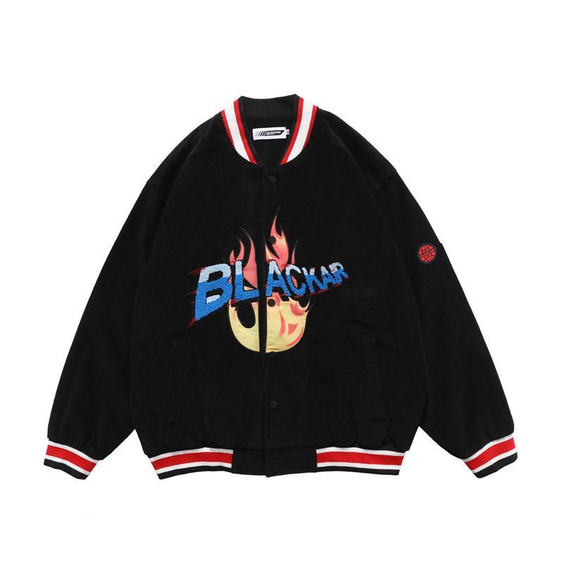 2020 варьистость мужская уличная одежда Письмо вышивки осень бейсбол обретают цветную пиджаку колледжа TS5H