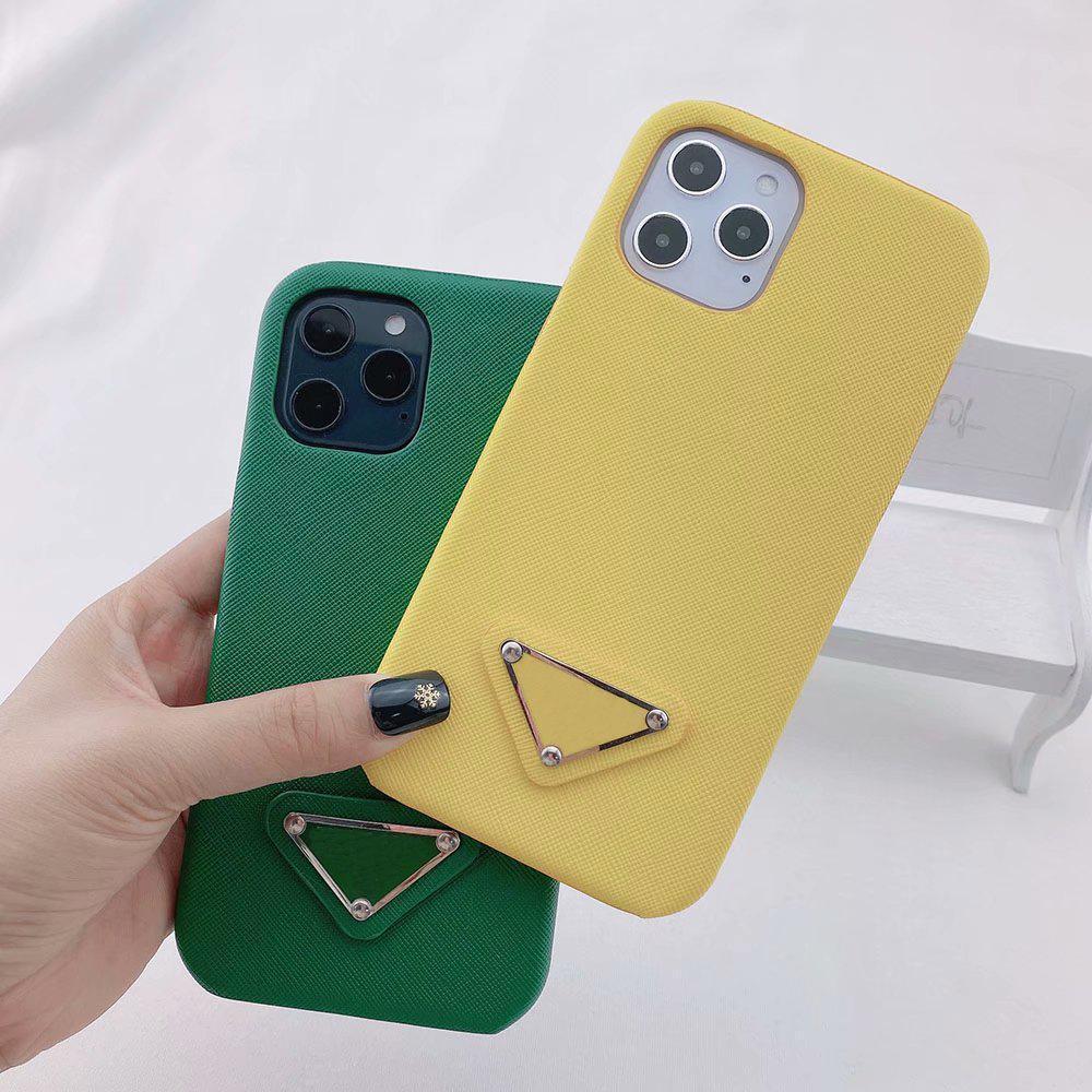العصرية تصميم مثلث حالة الهاتف لفون 12 12PRO 11 برو x xs ماكس xr 8 7 زائد جودة عالية غطاء الجلد قذيفة