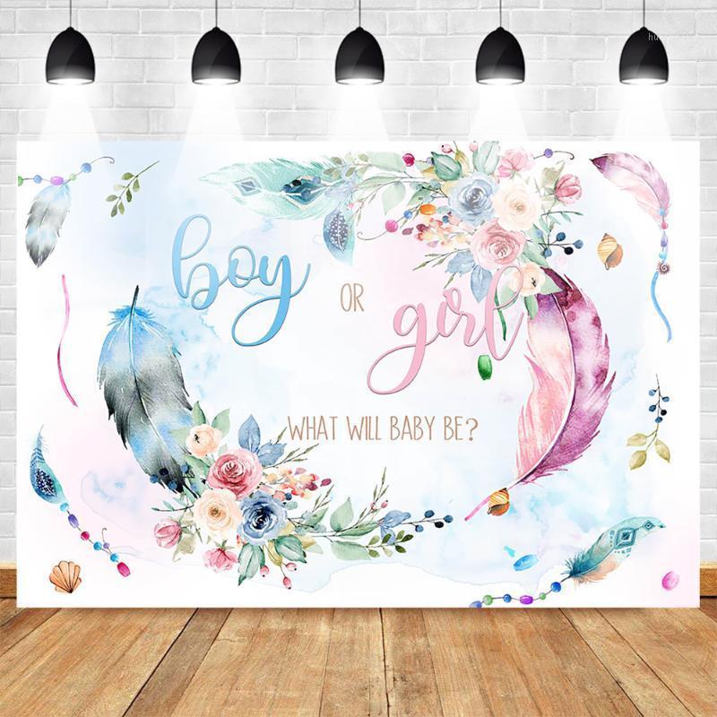Gender mehofoto раскрыть фото фона мальчик или девочка новорожденных цветы фотографии фона розовые и синие перо детские душ1
