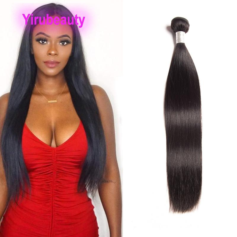 Brazilian Peruvian Human Hair Malaysian Indian Virgin Hair Extensions Straight Sample 1 Piece One Bundle 8-38inch Double Wefts