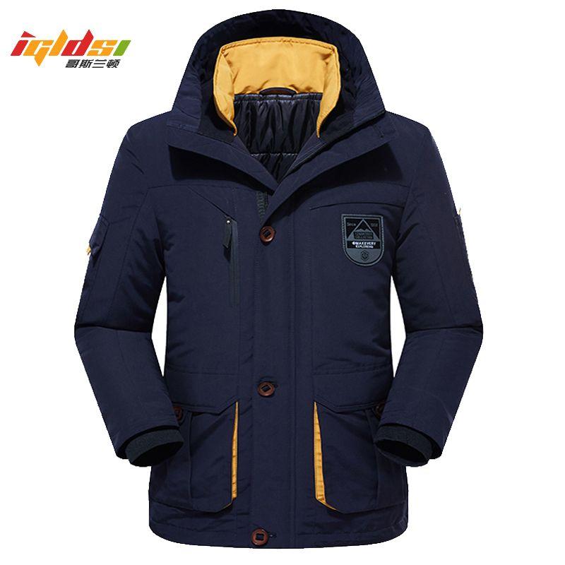Men's Winter Fleece Thick Jacket 2 in 1 Warm Coat Outwear Cotton Liner Removable Down Parka Waterproof Windbreaker Plus Size 6XL LJ201009
