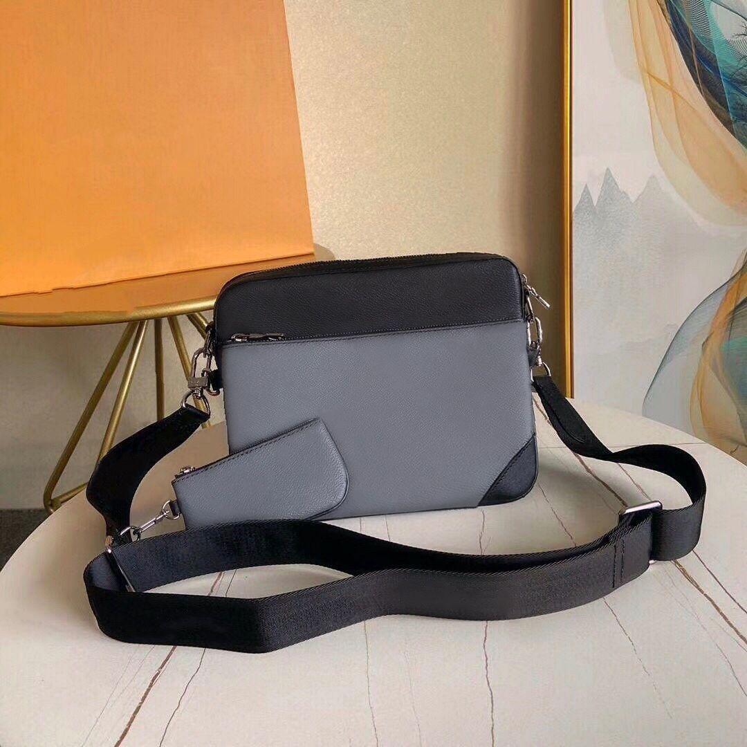 Vera pelle borsa messenger 3 piece Sacchetto della borsa della spalla di modo stabilito borsa per gli uomini presbite mini spalla pacchetto del sacchetto dell'uomo all'ingrosso
