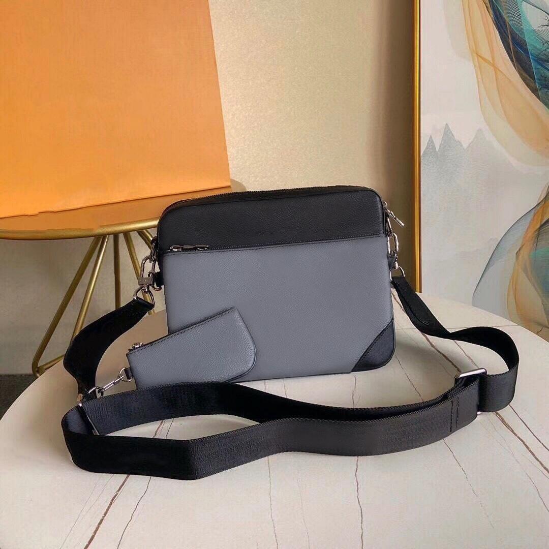 Кожаная сумка Оптом Мужчины Messenger 3 Piece Человек Мода Сумка Mini Set Satchle Package Плечо Presbyopic Для T Qujcx