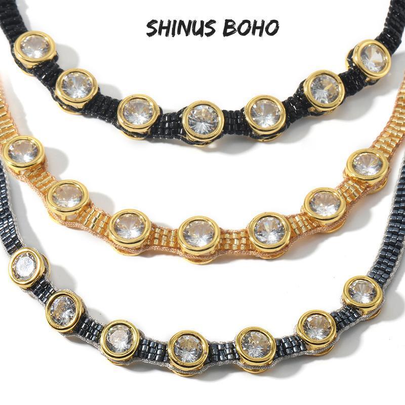 2020 MIYUKI Collier de perles en cristal femmes main tissé Collier ras du cou Mode d'été Bijoux Femme Accessoires