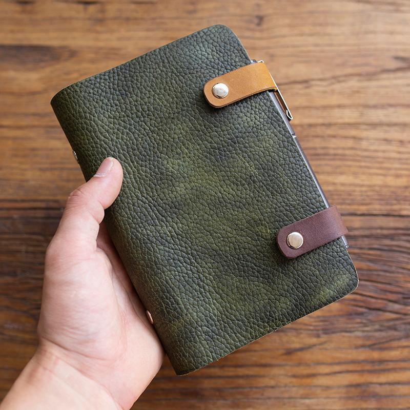 Notebook Vintage Viaggiatore a mano Viaggiatore Notebook Genuine Pelle Retro Note Book Diario Bovina Bovina Dello Sketchbook Regalo di Natale