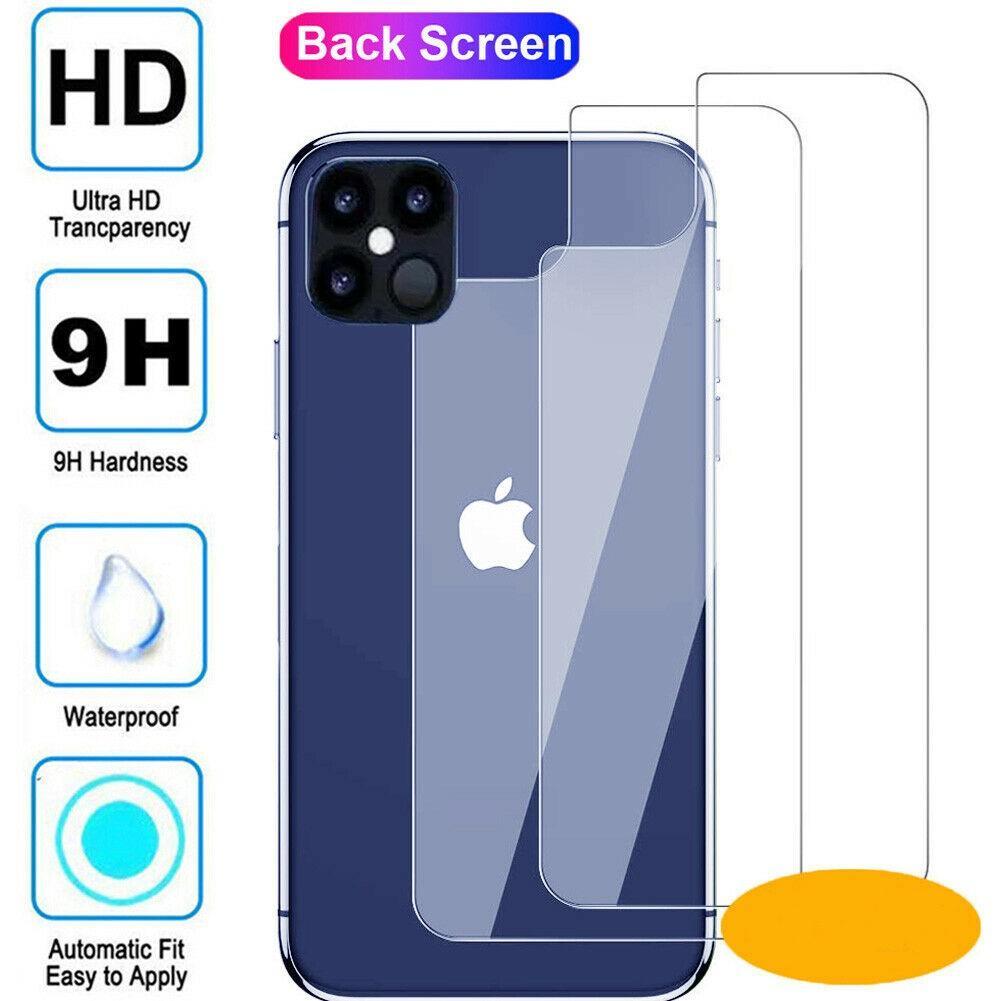 Arka Arka Temperli Cam Ekran Filmi Koruyucu için iPhone X XS XR 11 12 Mini Pro Max Anti-Parhatter Koruyucu Kapak