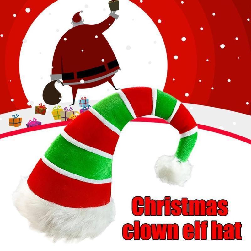 Рождество теплая и удобная Dicer Бархатная ткань Рождество Hat Клоун Hat новый год 2021 украшения дома аксессуары