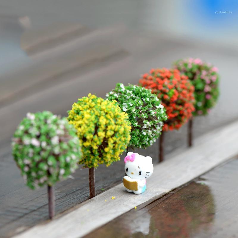 Großhandel - Mini Garten Dekorationen Harz Baum Fee Garten Miniaturen Bäume Gartendekoration Terrarium Figuren Miniatur Fairy Figuren1