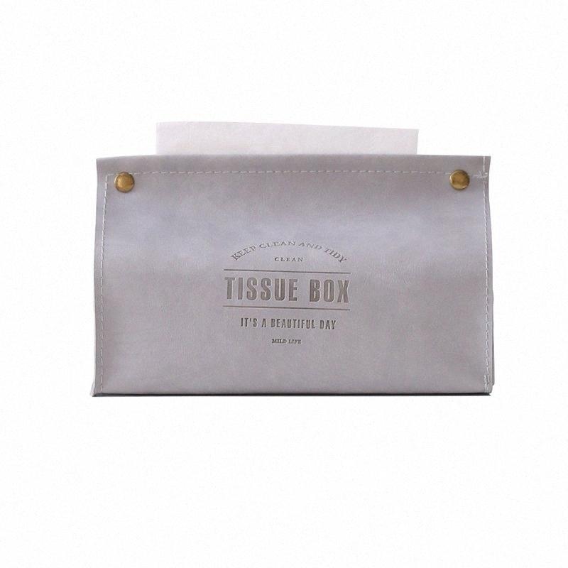 Serviette conteneur serviette tissu Porte-Ins Nordic cuir tissu Boîte de papier distributeur Case Holder Pour les particuliers Décoration pi53 #