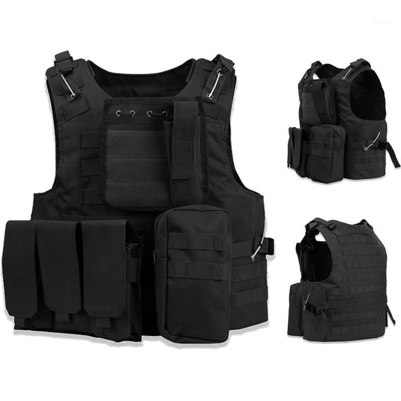 Gilet anfibio tattico Caccia Molle Plate Carrier Gilet Combat Assault Paintball CS Body Armor1