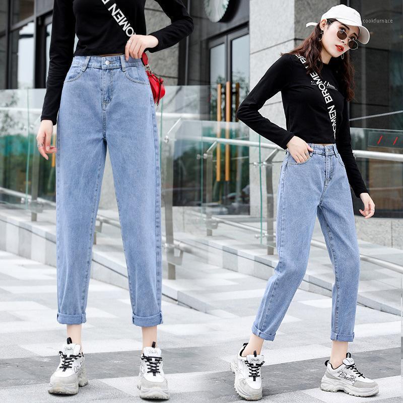 Pai solta Calças Luo Bu Ku Crianças New Coreano Alunos Cinturados Xuan Ya Harun Jeans1