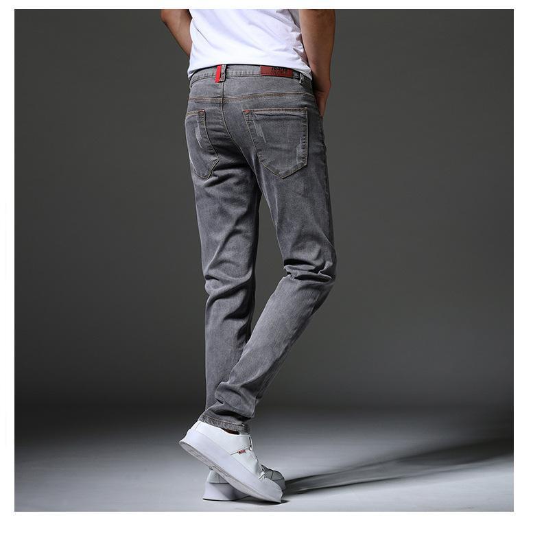Jeans für Männer Mens lose Jeans-Patchwork