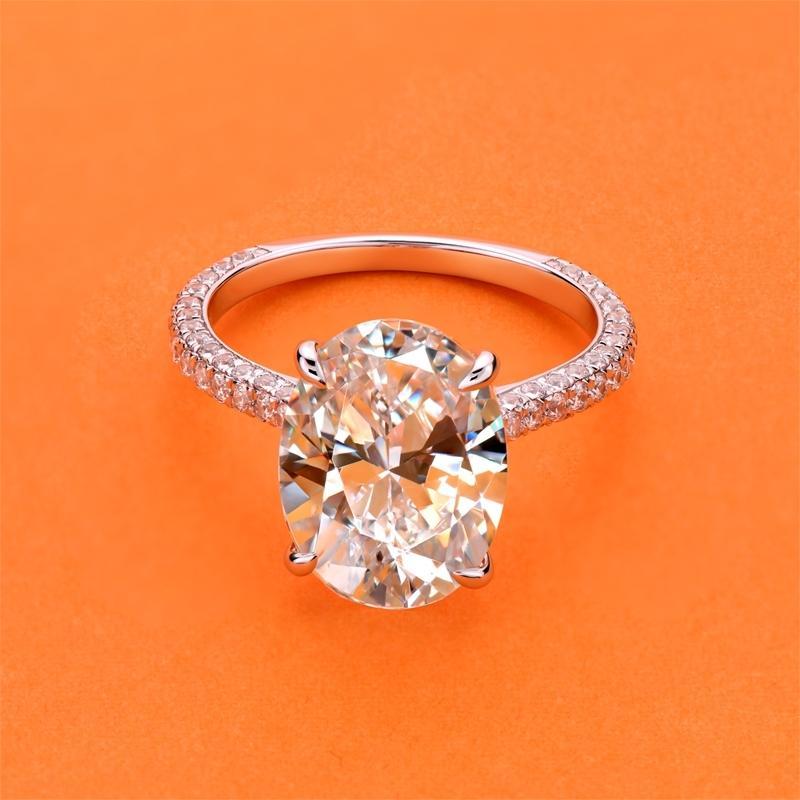 Anuoshi Luxury 5 карат овальный обручальное кольцо для женщин 925 Стерлинговое кольцо стерлингового серебра свадьба обещание кольцо свадебные украшения Y200106