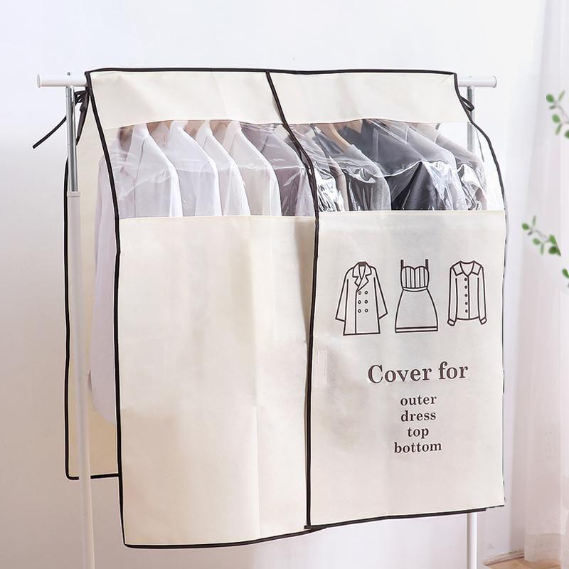 Cays d'épaule à empiècements suspendus Couverture de poussière pour la maison pour la maison Chambre à coucher Costume manteau Robe Organisateur Protecteur AHB004