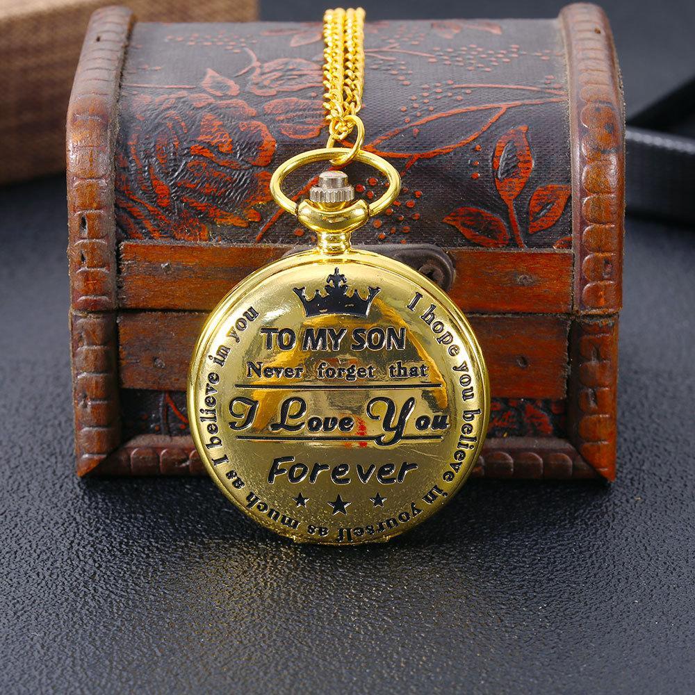 Presentes Hot vender clássico Eu te amo Estilo Relógios de Bolso Bronze Quartz Vintage bolso FOB Assista populares para meninos das meninas caçoa o presente Assista
