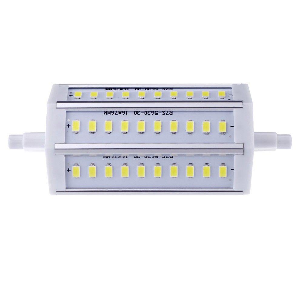 R7S 10W 30 LEDs 5630 SMD Energy Saving Light Bulb Lamp 118mm White 100-240V Replace Halogen Floodlight