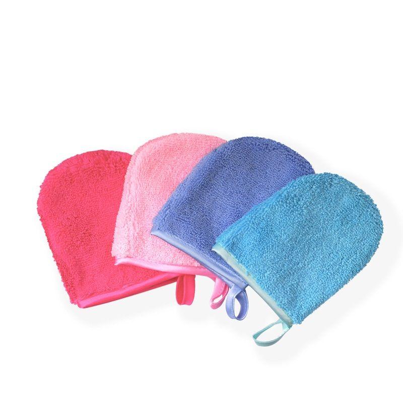 6 couleurs réutilisables Gant microfibre nettoyante pour le visage Serviette de bain démaquillantes Gants Beauté Outil WB2872