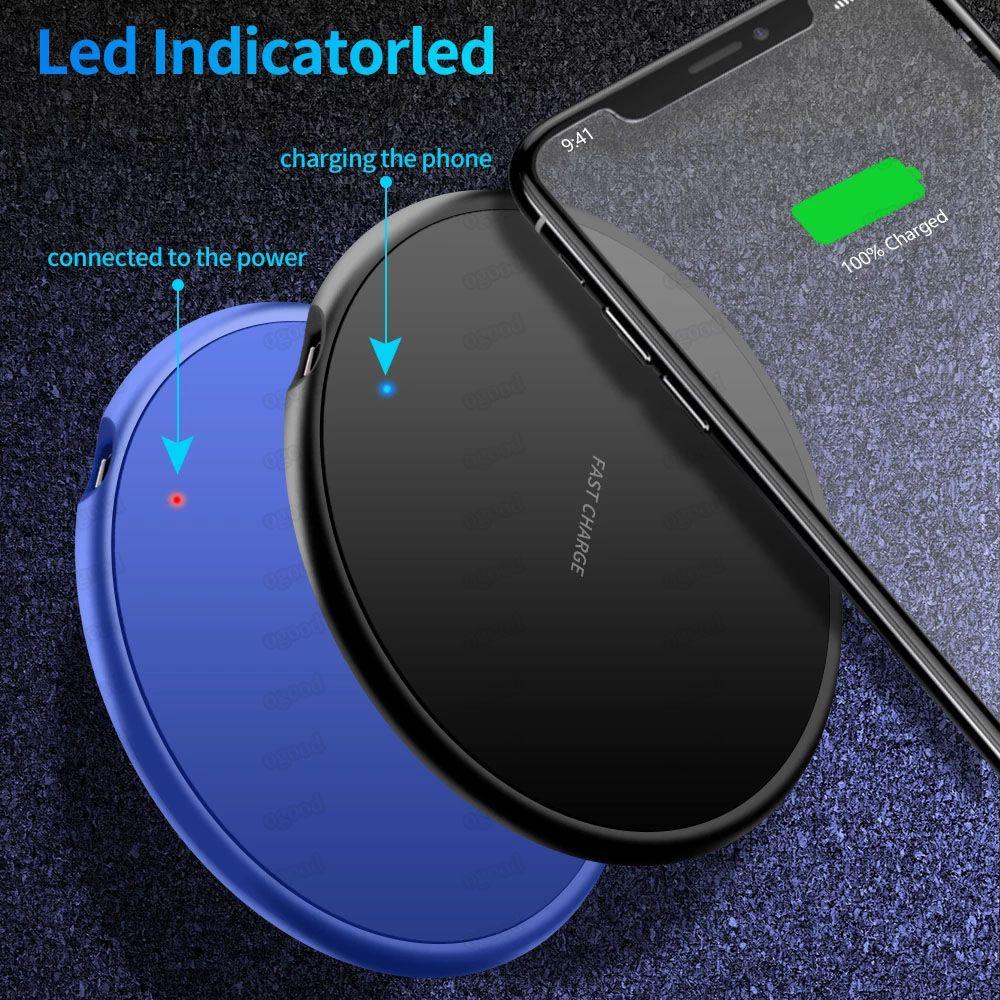 Chargeur sans fil 10W pour Samsung Galaxy S20 S10 Remarque 10 Fast Tapis de chargement sans fil de chargeur Qi pour iPhone 12 Pro Max Mini 11 PRO XR 8 Plus