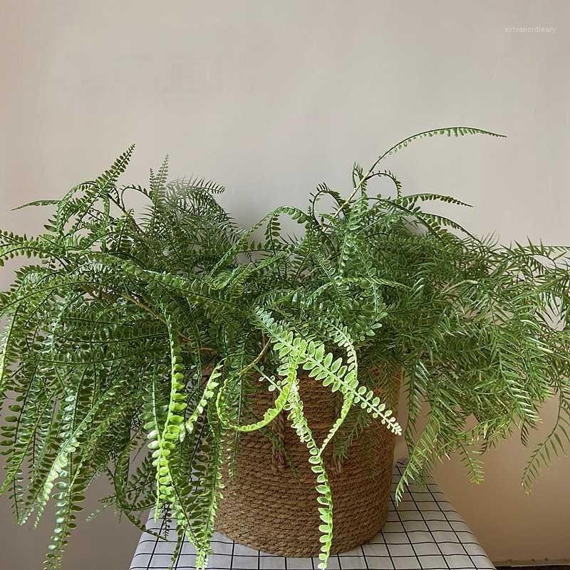 Folha artificial Ferramenta Folhas Verde Plantas Falas Lifelike Plástico Persa Lysimachia Fern Home Casamento Floral Decoração1