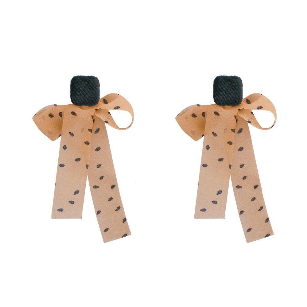 Mode Tempérament Dentelle Bowknot Big Longue Boucle d'oreille Sweet Grande Déclaration Drop Boucles d'oreilles pour femmes Party Bijoux Accessoires