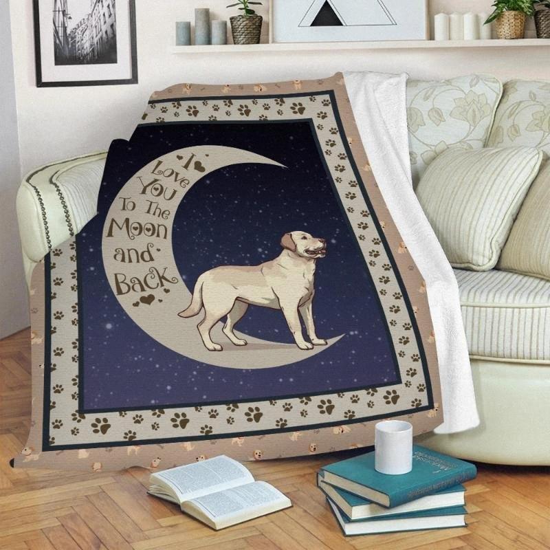 Pet Dog imprimé 3D Throw Blanket Personnalisez votre animal de compagnie Image Design Résumé mignon enfants Taille adulte chaud Microfibre Couvertures Pendelto MhkY #