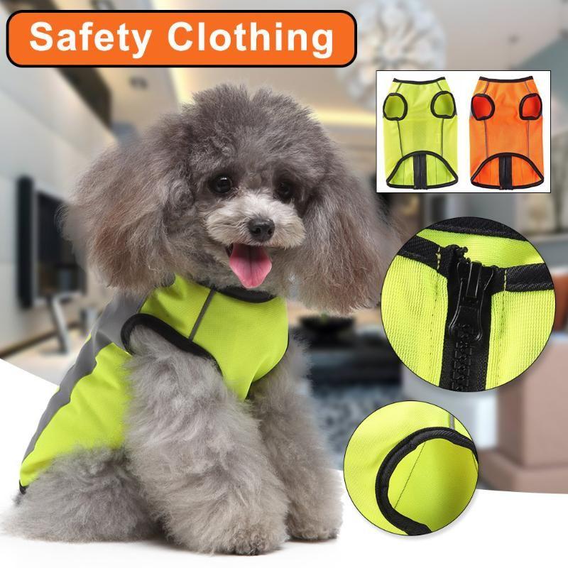 Reflektierende Outdoor-Nachtwelpen-Sicherheitswanderkostüme Mode Wanderhund Weste Casual High Sichtbarkeit Übung Haustier Kleidung