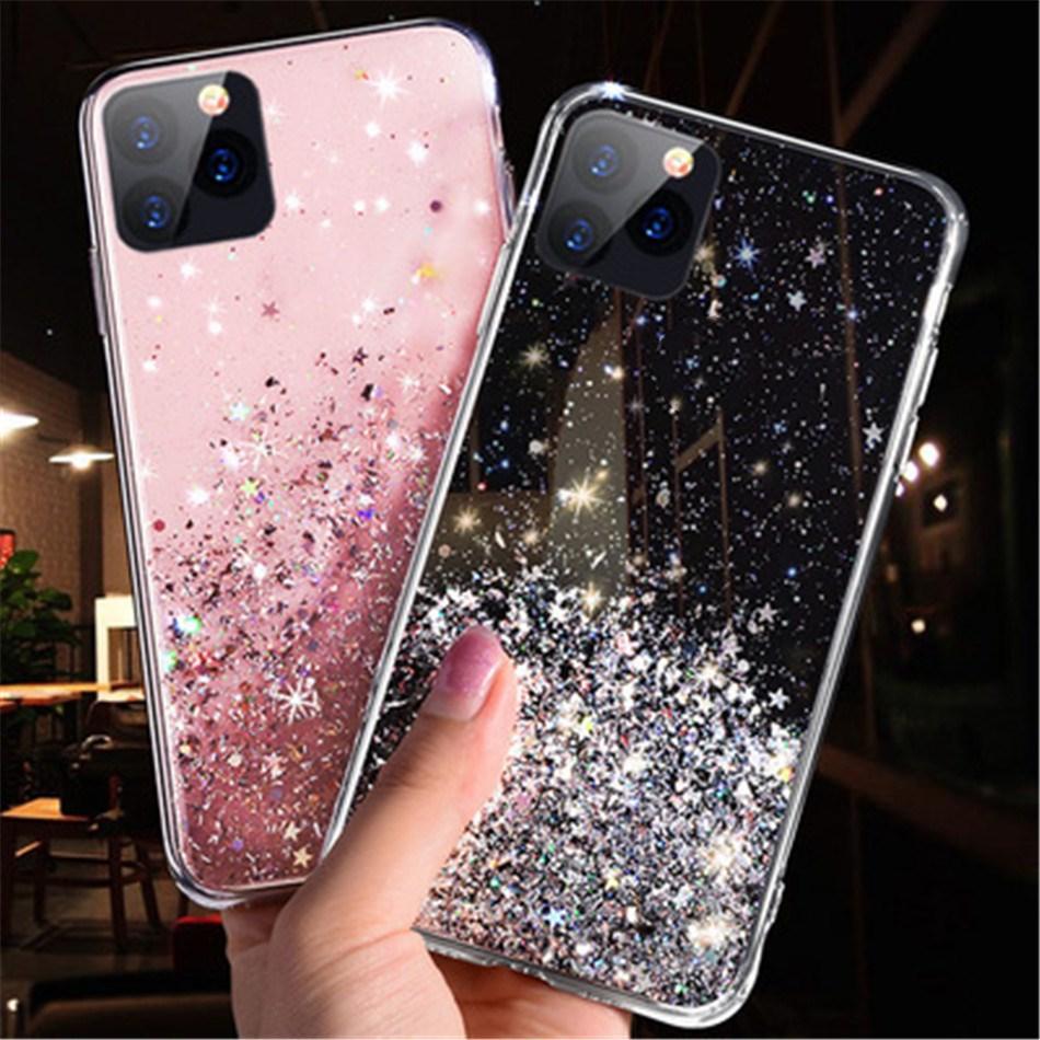Glitter Lantejoulas Designers Telefone Capas para iPhone 12 Pro Max Capas de telefone Silicone macio para capa iPhone 12 Case 11 x XR XS Max 8 Coque iPhone 11