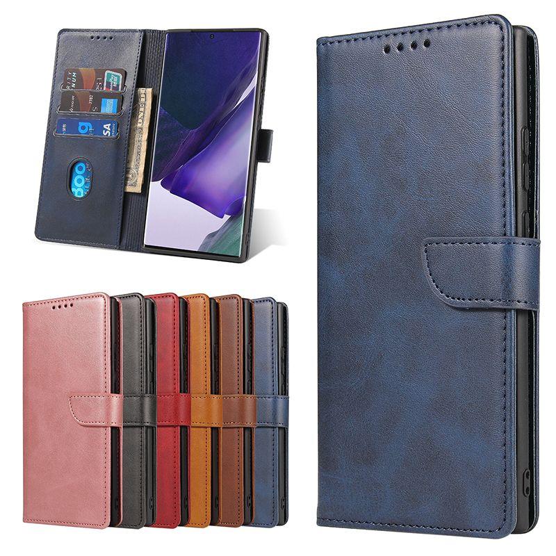 Funda de cuero retro para iPhone11Pro 12PRO 8PLUS 7 XR Funda de billetera para Samsung Note20 S10 5G