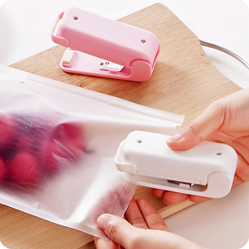 المحمولة الحرارة السدادة البلاستيكية حزمة حقيبة التخزين البسيطة دفعة آلة ختم المغناطيسي أسفل هاندي ملصق مكملات مطابخ IIA774