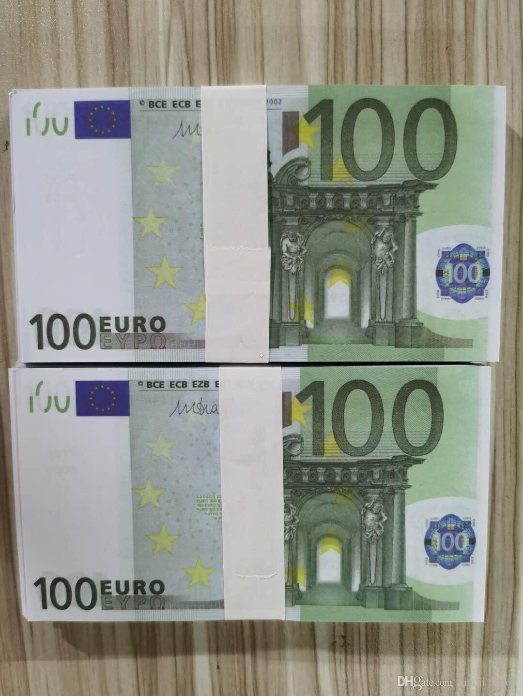 PROP EUROS Большинство игровых бумажных денег копия ночной клуб реалистичные деньги деньги 61 Примечание Бизнес поддельные 100 денег для коллекции Bank HGFCP