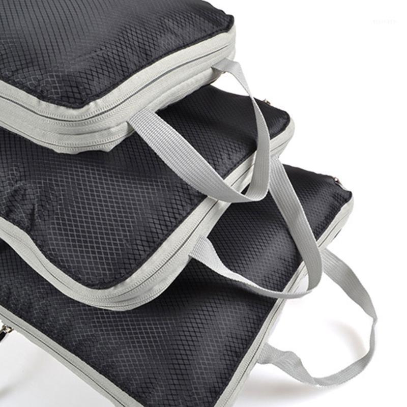3 unids / set Bolsa de almacenamiento Armario cubierta a prueba de polvo Zapatos de ropa con manija maleta bolsa Organizador colgante de viaje portátil Tidy1