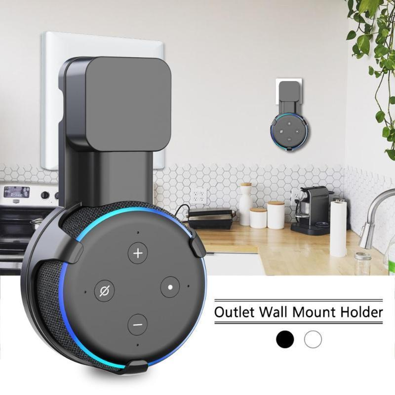 Outlet Wall Mount Stand Hanger for Amazon Alexa Echo Dot 3rd Gen Work with Amazon Echo Dot 3 , Holder Case Plug In Bedroom1