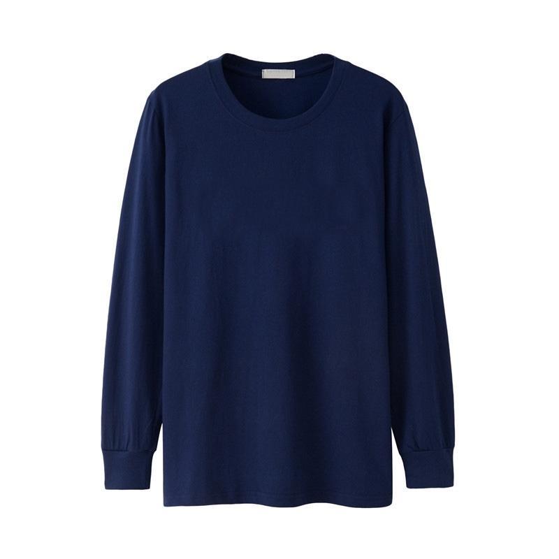 Inverno Uomini maglietta a maniche lunghe pieno autunno Plus Size Big XXXXL 5XL 6XL casuale semplice T-shirt in cotone maschile oversize maglietta nera 1005