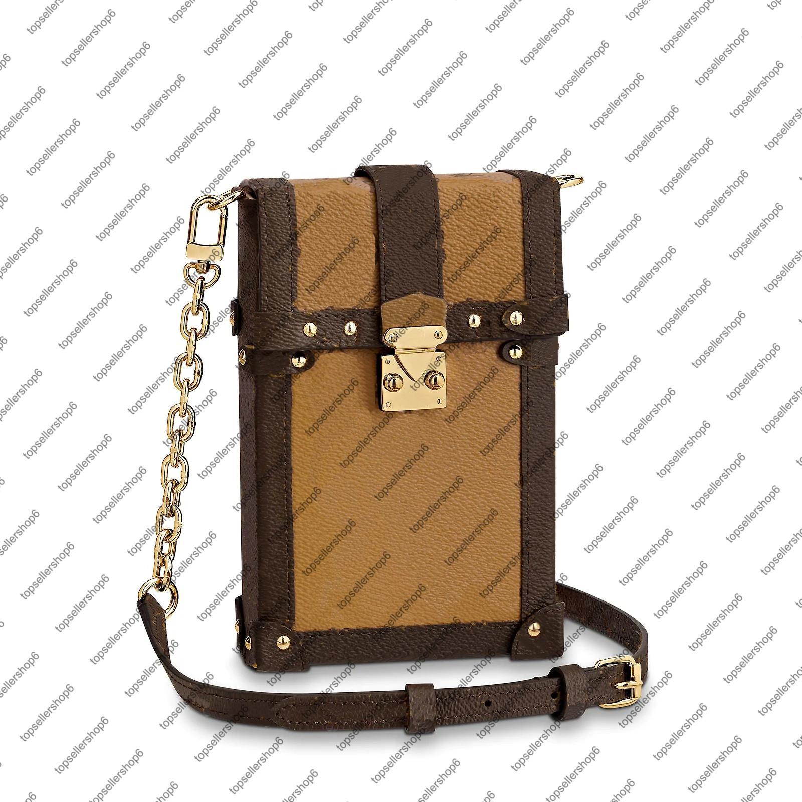 M63913 M67873 العمودي الجذع pochette قماش مخلب رسول المرأة حقيقي مصمم جلدية مربع محفظة البسيطة crossbody مساء حقيبة الكتف