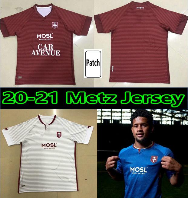 20 21 FC Metz Futbol Formaları Diallo Centonze Camesita De Ayak Vagner Niane Fofana 2020 2021 Jersey Erkekler Futbol Gömlek Maillot de Futol