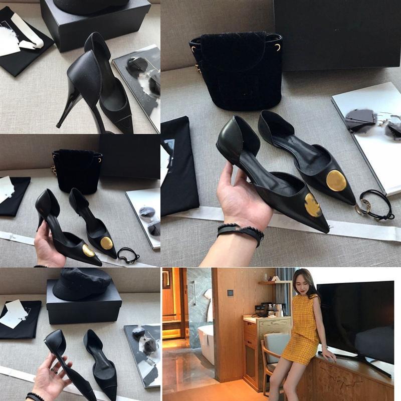6p5yi Office New Fashion Color Solid Color Professional Zapatos de alta calidad Heel de diseño de talón de tacón alto para mujer