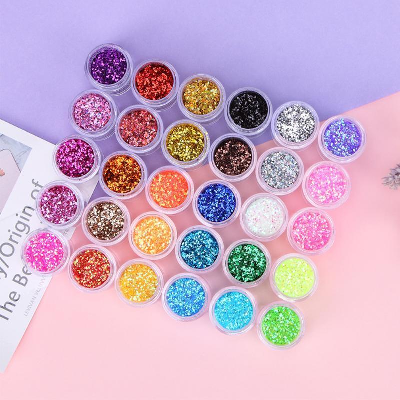 Nail Glitter Shining Dust Powder For UV Gel Polish Nails Decorations Purple Dipping Manicure Pigment DIY Art Tool
