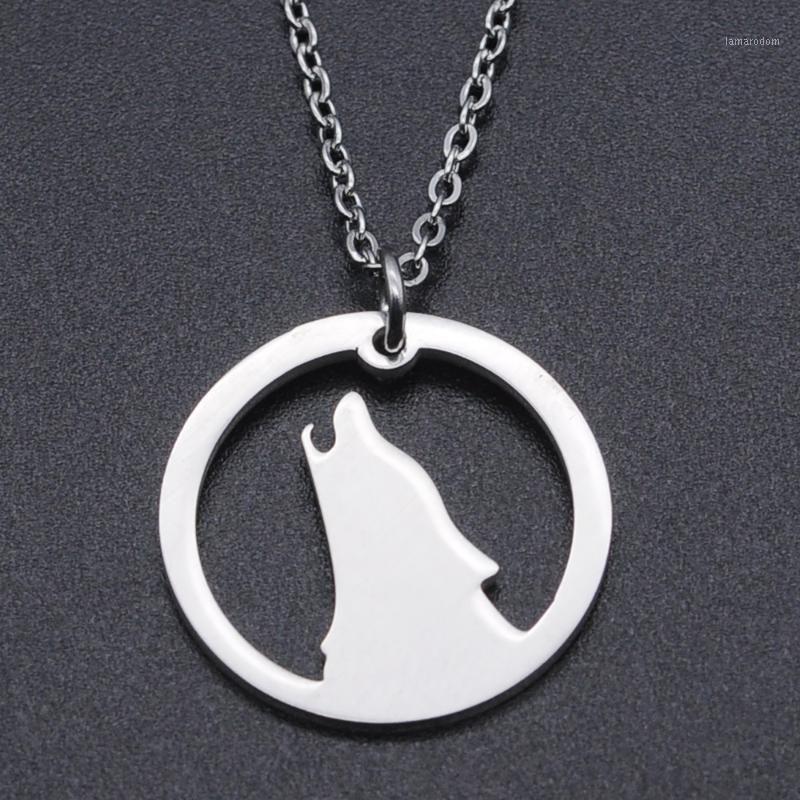 Ожерелья ожерелья ночной волк из нержавеющей стали очарование очарование для женщин Принять OEM Заказать Лакомства ювелирные изделия