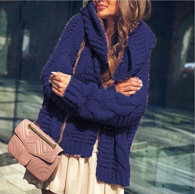 Sweater Women Sweater Winter Fashion Cardigan Suéter Abrigo Europa y América Estilo Sujetadores de punto para mujer Sudadera con capucha Tamaño S-4XL